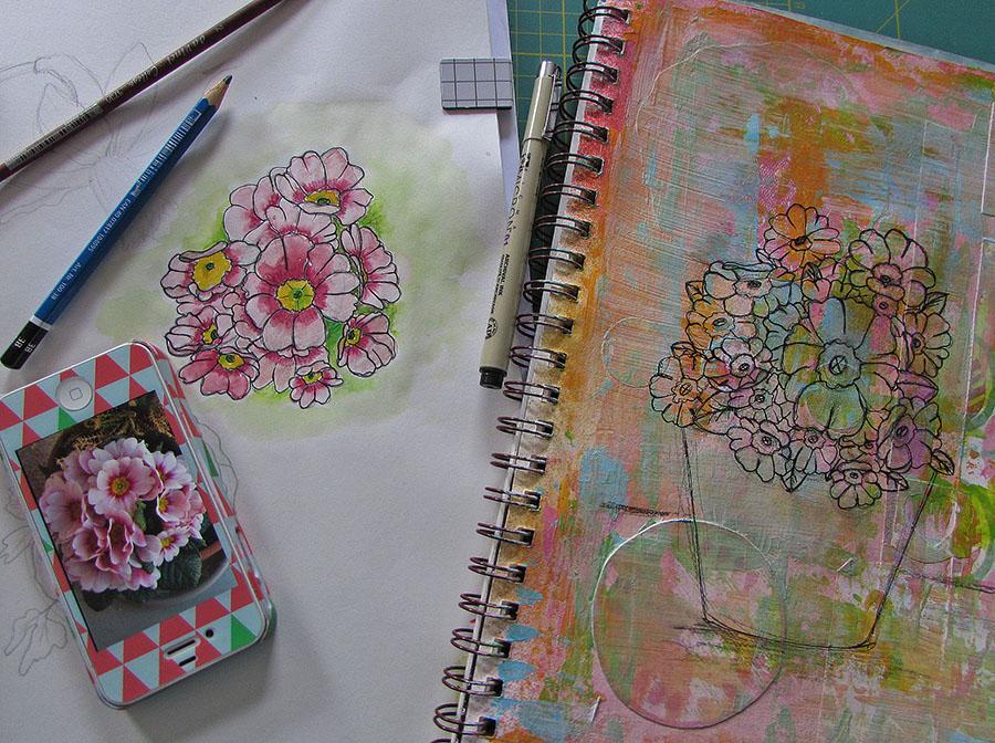 primrose sketch