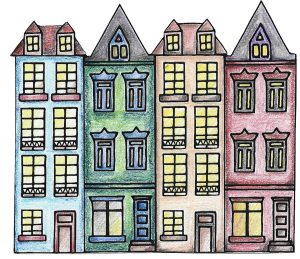 row-of-town-houses